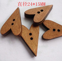 other wooden hearts - supply wooden buttons clothing textiles of the lacquer that bake peach heart wood buttons