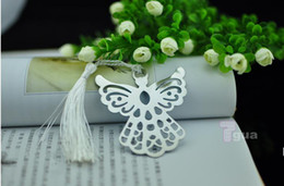 Wholesale exquisite wedding gifts angel monolithic metal bookmark with tassel for Back To School student s favors