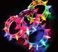 al por mayor collar de delirio-NUEVO caliente llevó Party Up Luz del centelleo pulsera del punto de boda de la barra del delirio del centelleo de luz intermitente regalo PIE Carnival Collar Juguetes