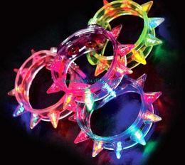NEW HOT Led Light Up Party Blinking Flashing Spike Bracelet Wedding Bar Rave Blinking Flashing Light gift FOOT Carnival Necklace Toys
