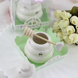 Wholesale Meant to Bee Ceramic Honey Pot wedding bridal shower favor and gifts