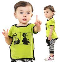 Boy Summer Short Gentleman baby sets boys suit (2PC) shirt+pant boy sports sets cool style 5 sets lot boys summer clothing