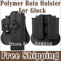 Cheap Tactical Holster Glock 17 19 Holster Polymer Retention Polymer Roto Holster Fits Glock 19 9 40 Black