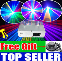 Wholesale Annual promotion mW Laser Show System RGB full color DJ Disco laser lights Stage Party DMX Light Free Gift Sunflower led light