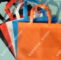 shopping,promotion and packing beige fedex shipping - 500 non woven shopping bags Customized logo with by Fedex