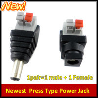 screw jack - New Press Type Pairs Male and Female x5 mm DC Power Plug Jack Adapter Connector for CCTV No need Screws