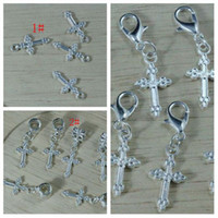 Wholesale Hot Silver Plated Assorted Cross Charm pendant DIY