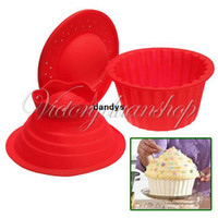 CIQ baking toppings - in Silicone Big Top Cake Muffin Chocolate Cupcake Liner Baking Cup Mold Mould dandys