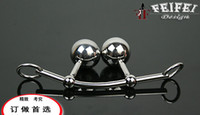 Wholesale New Female Anal hook Vagina Double Ball Plug In Steel Chastity Belts Rope anal Hook Bondage Sex Toy For Women Locking Chastity Belt