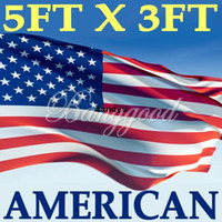 Wholesale 3x5 x5ft United States American US USA National Flag Stars Banner Pennant WITH METAL GROMMETS Polyester dandys