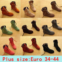 Wholesale 2014 NEW Ankle boots Fashion Women casual shoes Artificial Suede Round Toe Motorcycle Flats ladies sneakers Plus Size Shoes