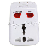 Wholesale All in One World Universal Wall Home Travel Adapter AC Power Plug Socket Converter USB Charger AU UK US EU White dandys