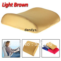 New 32 x 31 x 10(6)cm home,office,car Light Brown Free Shipping Memory Foam Lumbar Back Support Cushion Pillow for Home Car Auto Seat Chair New,dandys
