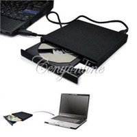 Wholesale Super Slim External Portable USB x CD ROM Optical Drive For Laptop Desktop PC High Quality dandys