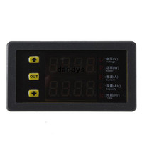 Wholesale DC DC A Dual display Digital LCD Power Current Voltage AMP Meter VA Voltmeter dandys