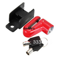 Wholesale Scooter Bike Bicycle Motorcycle Safety Anti theft Disk Disc Brake Rotor Lock Red dandys