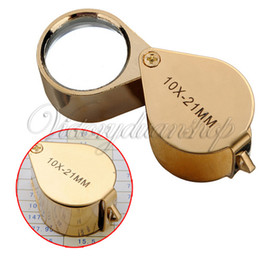 Wholesale 10x Power mm Jewelers Magnifier Magnifying Optical Glass Lense Stainless Steel Material Eye Loupe Jewelry Store New dandys