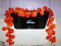 Wholesale Simulation Maple Leaf Home Hotel Restaurant Decor Props Artificial Flower Vine Leaves Wicker IB0014