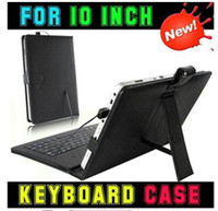 Wholesale DHL Hot OFF High Quality USB Keyboard Folding Leather Case with Stand Cover for inch Apad Epad Flytouch Laptop Tablet PC MID Q88