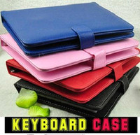 Wholesale DHL Hot CHEAP OFF USB keyboard leather case with bracket for inch tablet pc netbook quot INCH apad epad