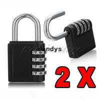 Wholesale 2pcs New Dials Resettable Combination Pad Lock Door Locker Luggage Suitcase Padlock HQ dandys