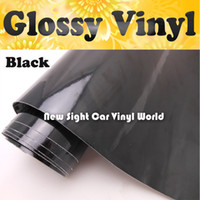 Wholesale High Quality Glossy Black Vinyl Wrap Glossy Film Air Bubble Free For Vehicle Wraps Size m Roll ft X ft