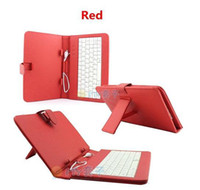 Wholesale DHL LOW CHEAP OFF quot inch keyboard case Leather case with usb keyboard bracket for apad epad ebook mid Tablet PC
