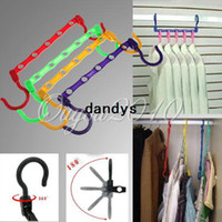 Clothes adjustable hanging - 8pcs Adjustable Multifunctional Space Saving Closet Clothes Magic Hanger Holders Classify Home Hanging Organizer Hook dandys
