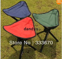 garden stool - Outdoor Folding Tripod Seat Camping Hiking Fishing Stool Picnic Garden BBQ Chair dandys