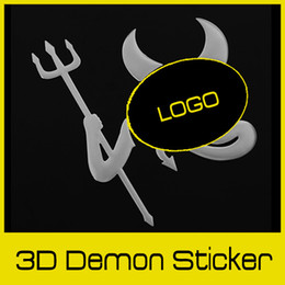 Wholesale Personalized D Evil Devil Style Demon Adhesive Sticker Motor Car Auto Truck Emblem Silver Logo Label Paper Badge Decoration dandys
