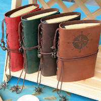 Wholesale 2014 Vintage Leather Journal Notebook Classic Retro Spiral Ring Binder Diary Book Custom logo printing Gift