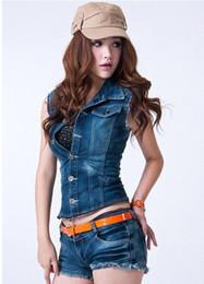 Wholesale Women new hot fashion Denim jump suits show thin vest wtc384