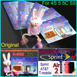 Wholesale Newest Original R SIM air RSIM air2 RSIM air Unlock for iphone S C S iOS6 X X Support US iOS Sprint AT amp T T mobile Crick