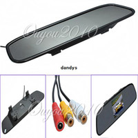Wholesale 4 Color TFT LCD Car Rear view Mirror Monitor FR Screen Reverse Paking Camera DVD Video Input dandys