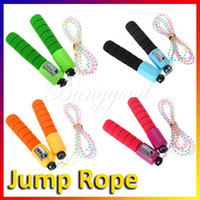 random jump rope wholesale - Adjustable Counter Number Skipping Jump Rope Fitness Exercise Sport Workout Gym NEW dandys