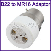 Plastic adapter mr16 - 10pcs B22 to MR16 Mr11 GU5 G4 Standard Base Socket Light Lamp Bulb Adapter Converter dandys