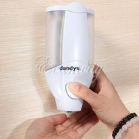 Wholesale New ABS Wall Mounted Liquid Soap Sanitizer Home Washroom Bathroom Hotel Shower Shampoo Dispenser box dandys