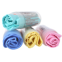 Wholesale 4pcs PVA Chamois Car Wash Towel shammy Screen Cleaning Cleaner Hair Drying Cloth with Tube