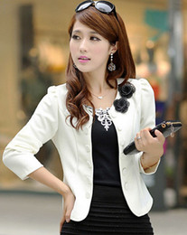 Wholesale Women s Office Blazer Bow Cardigan Jacket Slim Thin Floral Bolero High Street Elegant Basic Brand New Fashion