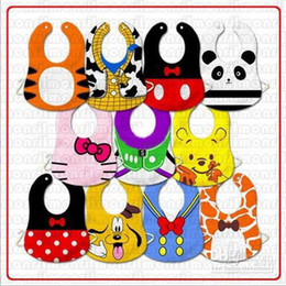 Wholesale Hot Sale New Baby leopard Bibs slaver towels pinnies baby dribble towels pinny Toddler feeding bibs