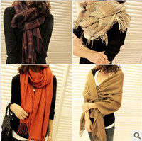 Scarves Cotton Shawl, Wrap,Scarf Plaid scarf fashion female big scarf cashmere yarn cape fashion autumn and winter scarf muffler free shipping