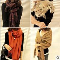 Scarves Cotton Shawl, Wrap,Scarf Plaid scarf fashion female big scarf cashmere yarn cape fashion autumn and winter scarf muffler free shipping
