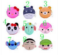 Wholesale Lovely Coin Purses plush zero wallet cartoon key packet small coin purse