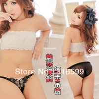Women Cotton Boxers & Boy Shorts Free Shipping Ladies Sexy Butterfly Thong Transparent Panty Black Sexy Briefs Wholesale Dropship YST2139