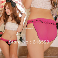 Women Cotton Boxers & Boy Shorts Free Shipping Sexy Lingerie Underwear Hot Sale Ladies Sexy Panties Thong Rose Red Sexy Lace Panty Wholesale Dropship YST2161