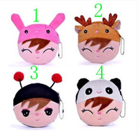 Wholesale Cute Coin Purses cartoon plush zero wallet girl s coin bag