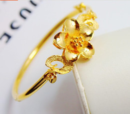 2017 style Exquisite flower gold-plated bracelet bridal women jewelry wedding accessories alluvial gold-plated high artificial gold-plated