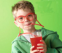 Wholesale 1404c Novelty items Amazing Silly Straw Drinking Glasses Eyeglass Frames Piped best gift for