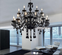 Wholesale Black Murano Glass Crystal Chandelier Light modern black chandelier restaurant chandeliers glass Candle chandeliers crystal ball chandelier