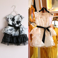 New Summer 2014 Girls Bow Tutu Princess Dress Kids Flowers L...